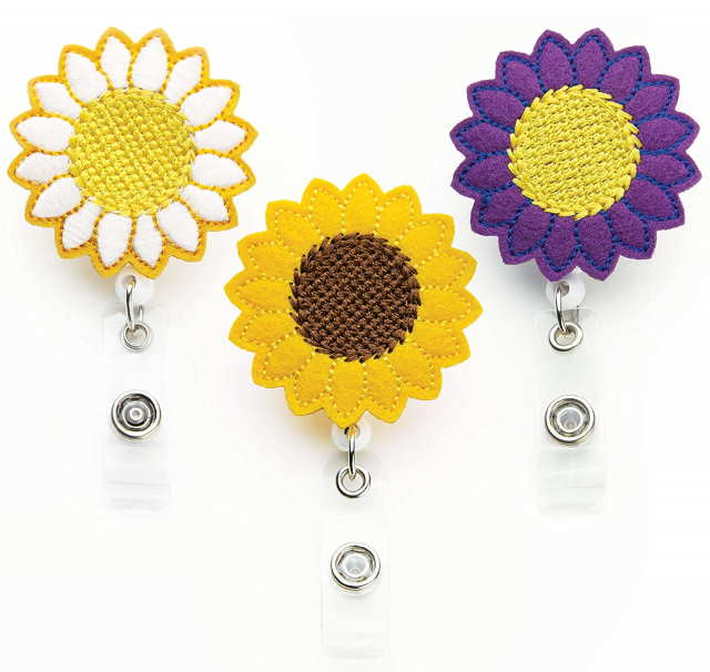 porta badge girasole